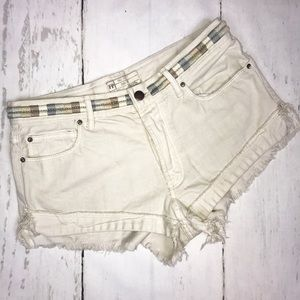 FREE PEOPLE WOMENS SHORTS 27 WHITE BOUTIQUE